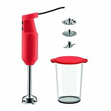 Bodum Bistro Electric Blender  2 Speed Stick with Accessories, Red