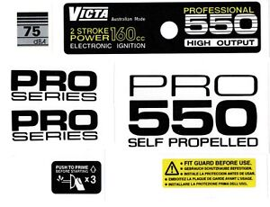 Victa Professional 550 Self Propelled Vintage Mower Repro Decals