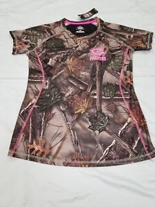 *NEW*NFL Team Apparel Green Bay Packers Ladies Camo Cool Base Top Sz L Football