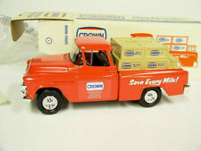New in Box Ertl Diecast Red Crown 1955 Chevy Pick Up Truck Bank 1/25 scale