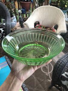 Vintage Green Depression Glass Bowl/Dish