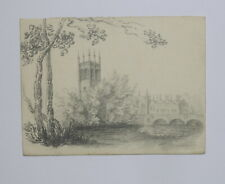 More details for 19th century pencil drawing magdalen college oxford