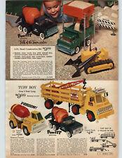1965 PAPER AD Tuff Boy Truck Concrete Cement Mixer Riverside Tonka Trencher