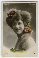 c 1908 French Music Hall Cabaret MISS HART Folies Marigny photo postcard