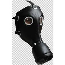 GAS MASK BLACK FULL FACE RUBBER Halloween MEN'S Fancy Dress COSTUME PARTY