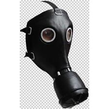 Máscara de Gas Negro de goma facial completa Disfraz de Halloween de depuración para hombre Steampunk Fiesta