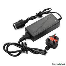 5A 240V Mains Plug to 12V DC Adaptor Car cigarette Lighter Socket Power Charger