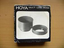 Vintage HOYA Rubber Multi Lens Hood In Original Box - Fits 24mm-200mm Nice Item!