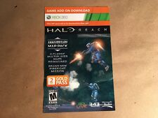 XBox 360 Live HALO Reach Anniversary Map Pack Bonus Add On Content Card Code