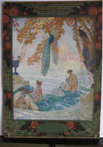 "Superb Lithograph Octave Denis Victor Guillonnet (1872-1967) ""Baigneuses"""