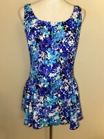 NWOT Maxine of Hollywood Swimsuit 16W 16 W Skirt Dress Floral One Piece Women's