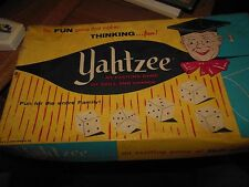 Vintage Yahtzee Game Complete in Box with Box of Scorepads