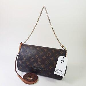 Authentic Louis Vuitton Favorite MM Monogram M40718 Clutch Mini Cross Bag LC695