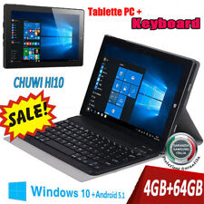 "4/64GB 10.1"" CHUWI Hi10 Windows10 +Android 5.1 Intel Tablet PC HDMI OTG+Tastiera"