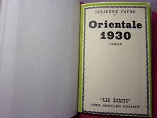 Lucienne FAVRE ORIENTALE 1930 Exemplaire Numéroté
