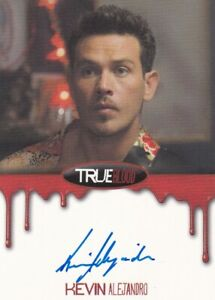 True Blood Premiere Edition 2012 autograph card Blood Bordered Kevin Alejandro