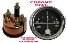 50 0 50 Ampèremètre Voiture Utilitaire Camion 52MM Chrome Comparateur Universel