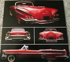 1958 Chevrolet Impala Convertible car print (red, no top)