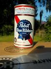 PABST BLUE RIBBON AT NEWARK WITH VIRGINIA STAMP FLAT TOP OLD BEER CAN