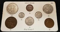 1911-1936 CHOICE OF YEAR 8 COIN GIFT SETS FARTHING TO HALFCROWN  IDEAL BIRTHDAY