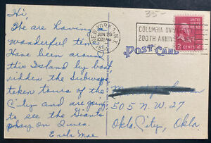 1954 New York USA Picture Postcard Cover Baseball Ebbets Field Brooklyn NY