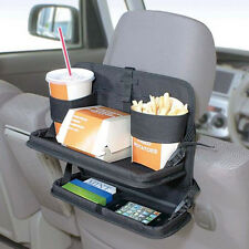 New Seat Back Food Meal Drink 2 Level Tray Table Storage Holder Car Accessories