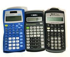 Lot of 3 Texas Instruments Ti-34Ii Ti-30Xa Baii Plus Calculators