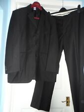 "Burtons men`s smart black 2-piece suit chest size 44"" waist 40"""