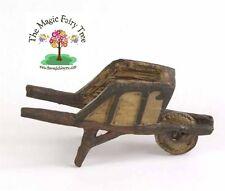 Fiddlehead micro miniature rustic wheelbarrow