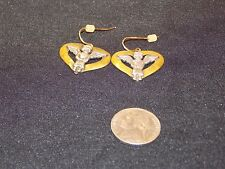 JC Jeep Collins Sterling Silver and Brass Angel in Heart EARRINGS