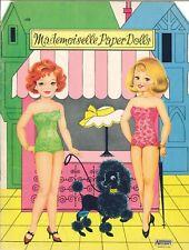 Vintge 1950S Mademoiselle Paper Doll Lasr Repro~Org Sz UncuT Free Sh No1 Selr