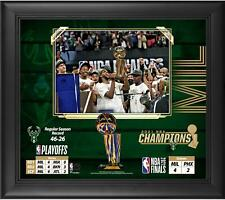 "Milwaukee Bucks Framed 15"" x 17"" 2021 NBA Finals Champions Collage"