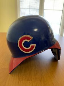 Ricky Gutierrez Chicago Cubs Game Used Cracked Batting Helmet Autographed