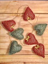 Handmade  Christmmas. Heart Garland Bunting
