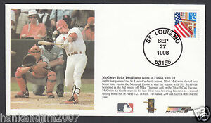 Mark McGwire 70th Homerun 1998 USPS Commemorative Envelope & Canceled Stamp