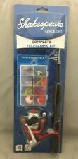 Shakespeare Complete Telescopic Rod and Reel Combo 40pc Lures Bobbers