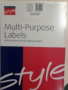 Laser / Inkjet Printer labels 16/sht bx1600