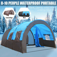 8-10 Person Waterproof Portable Tent Outdoor Travel Camping Double Layer Shelter