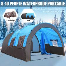 8-10 persona carpa portátil Impermeable Al Aire Libre Viaje Camping refugio de doble capa