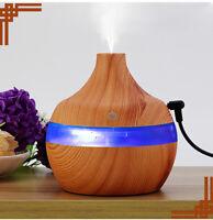 Diffuseur Huile Essentielle 300 ml USB Arôme Humidificateur LED 7Couleur