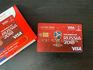 Alfa Bank Card Visa FIFA WC 2018 Russia FIFA World Cup NEW