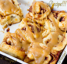 "☆Puffy, Fluffy, Sticky Sweet Heaven!☆Caramel Apple Cinnamon Rolls ""RECIPE""!☆"