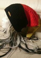 Deutschland Zipfelmütze **schwarz/rot/Gold** mit Glocke Gr.50-52-54 *XL-LONG*