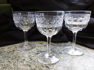 Tudor crystal set 3 port glasses unknown pattern