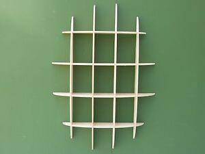 DVD rack storage unit retro style shelves media holder shelf wall mounted 33dn
