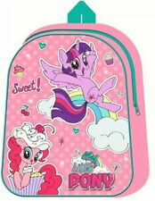 Large My Little Pony Light Up LED Girls Backpack Kids Pink Travel School Bag