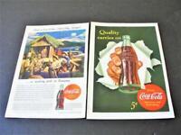 1942/1944- Coca-Cola Quality cares on. Have a Coca-Cola- Set of 2 Magazine Ad.