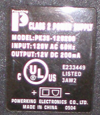 Powerking PK35-120200 AC power supply 12VDC 200mA unique plug