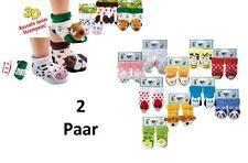 !! 2 PAAR !! Baby Rasselsöckchen Söckchen Rassel Geschenk Neue Modelle!!