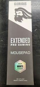 "Glorious Large Extended Gaming Mouse Pad (36"" X 11"") - White"